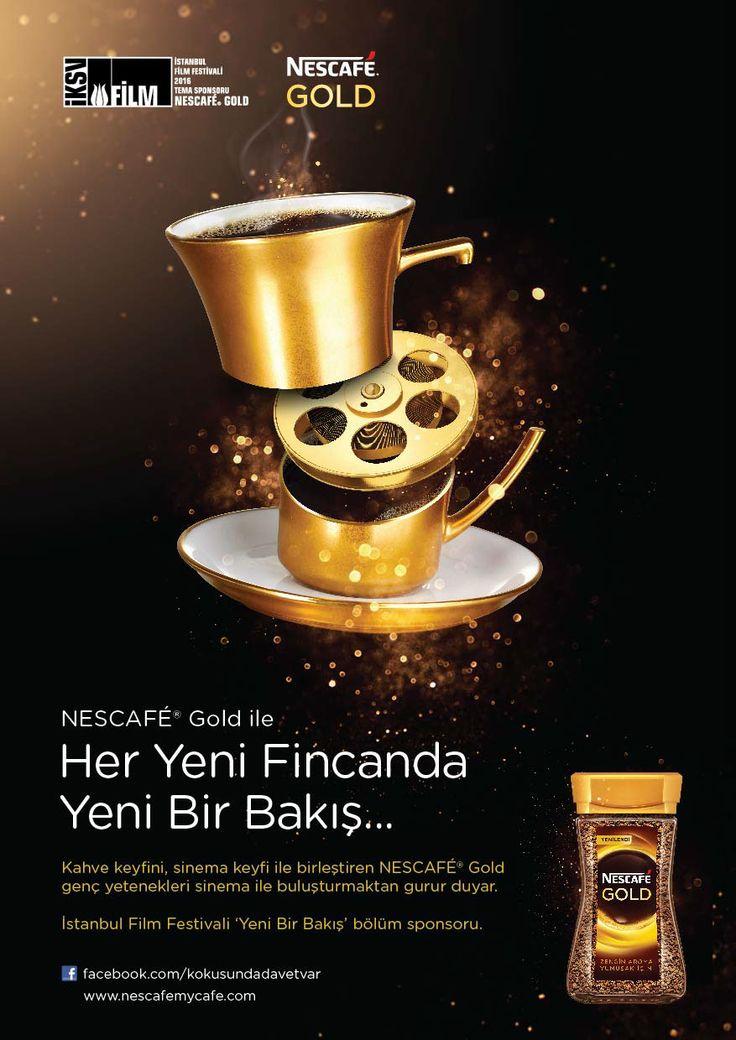 Nescafe Gold Sponsor of IKSV on Behance | Nescafe, Poster ...