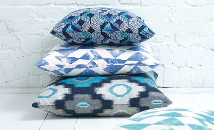 True Blue, a cool colour combination from the Loki collection. #colourvibe