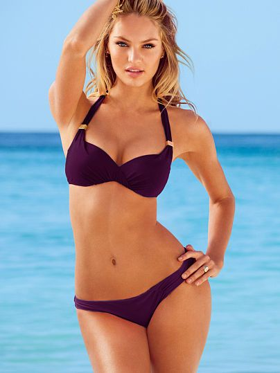 Unforgettable Demi Top Forever Sexy  w/ Matching bikini bottom Color: Black Orchid Size: Medium (for both) Top: 34 C ($52.50) Bottom ($28.50)