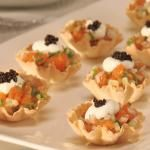 Asian-Style Salmon Tartare in Phyllo Cups | BC Liquor Stores