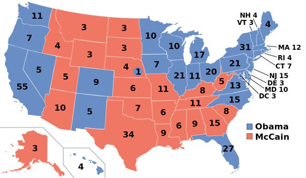 Presidential Election Maps from 1968-2008