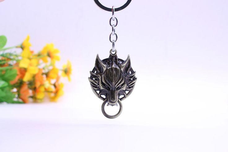 """""""Final Fantasy"""" Wolf Head Key Chain"""