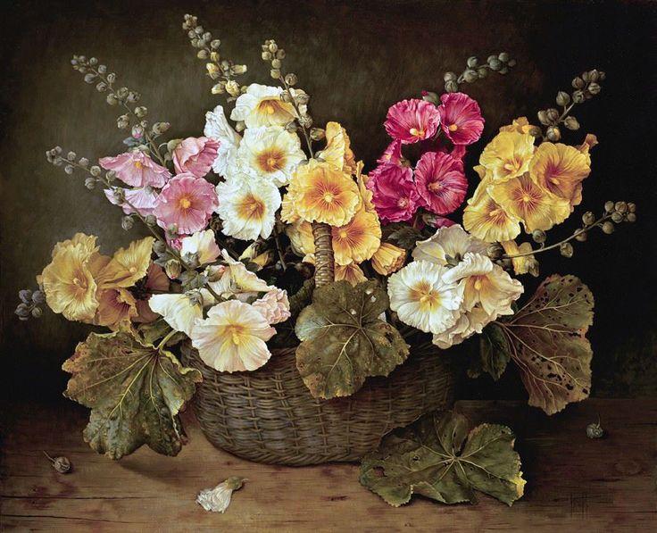 JOSE ESCOFET создает удивительные картины. Рисуя цветы, он умудряется создать целый мир из них на своих холстах.