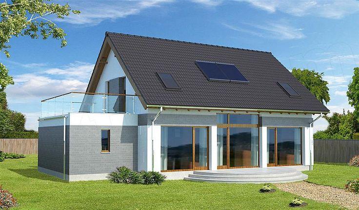 projekt Lipińscy Dom Pasywny 1 LDP01 WOB1078