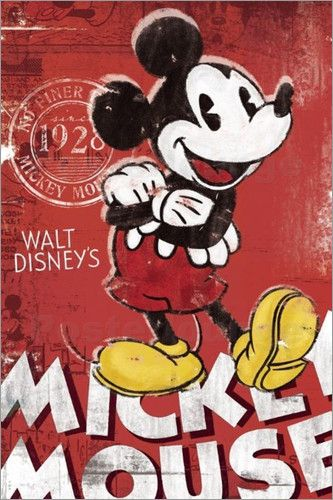 Mickey Mouse - Comicposter