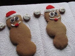 Mr. Hanky Poo (gingerbread cookies;)