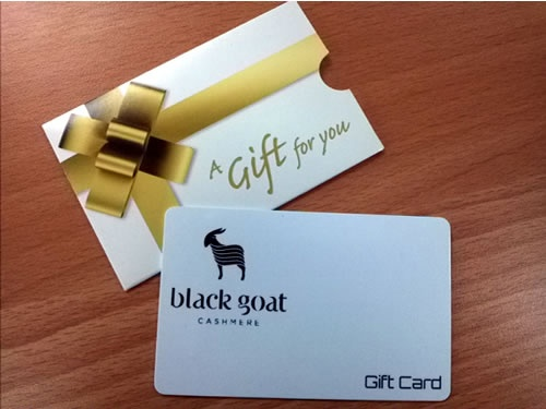 A gift card from Black Goat Cashmere on South Granville makes a nice gift for Mom! She will love shopping here!