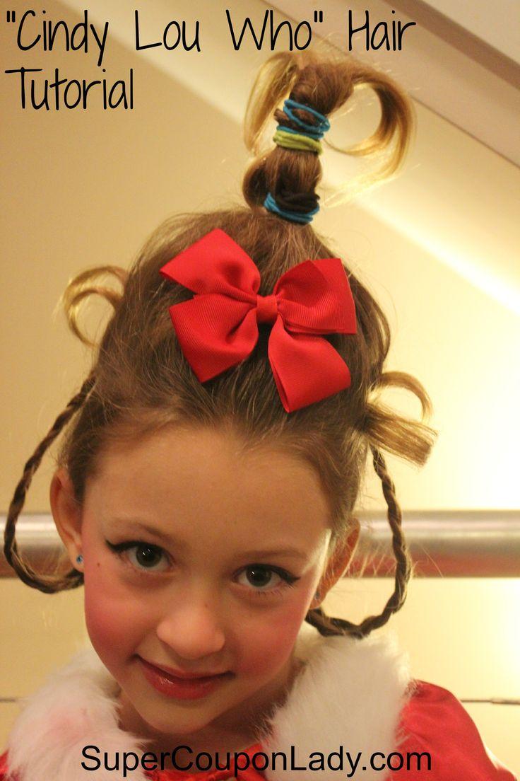 Cindy Lou Who Hair Tutorial! So Adorable! http://www.supercouponlady.com/2013/03/cindy-lou-who-hair-tutorial.html/