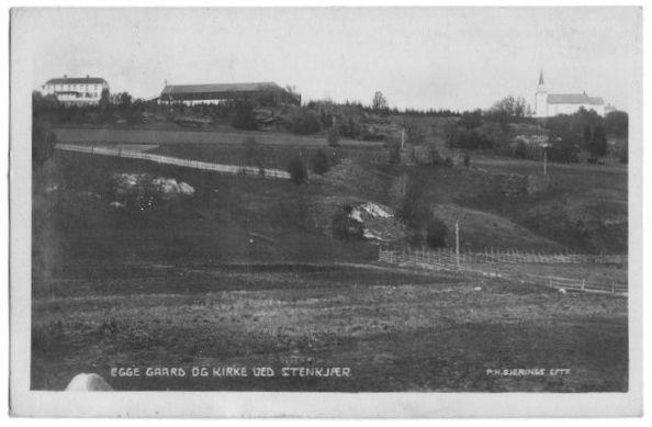 Egge gård og kirke Steinkjer i Nord-Trøndelag Foto: Bjerknes