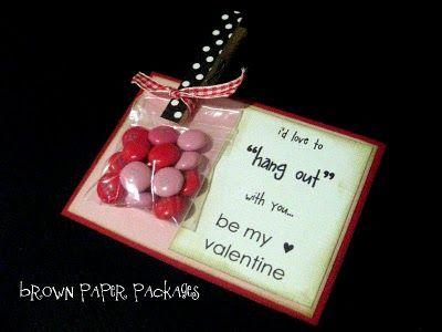 cute valentine card for class