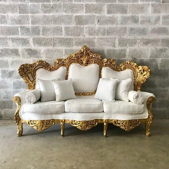 Baroque Sofa Throne Furniture Rococo