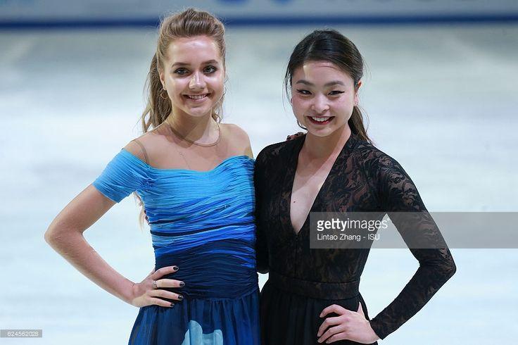 News Photo : Elena Radionova of Russia with Maia Shibutani of...