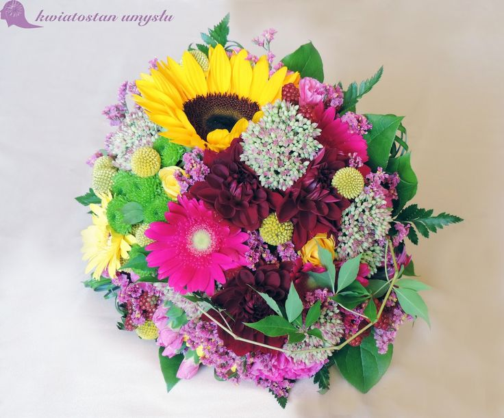 August wedding bouquet - colorful and multispecies.