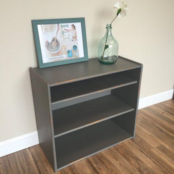 Grey Bookshelf - Vintage Bookcase - Painted Bookshelves - Short Bookshelf -  Shabby Sheek - Distressed - Best 25+ Short Bookshelf Ideas On Pinterest Bookshelf Living