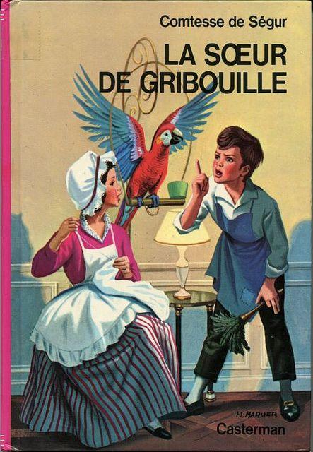 """épinglé par ❃❀CM❁✿""""La soeur de Gribouille"""", by the Comtesse de SEGUR - consus-france, via Flickr.  Illustrations: Marcel MARLIER."""