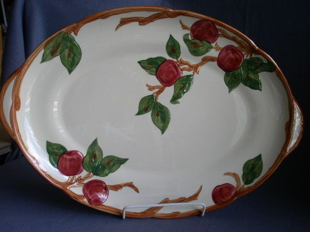 "Oval Kitchen Island Old Dish Platters | Vintage Franciscan China ""apple"