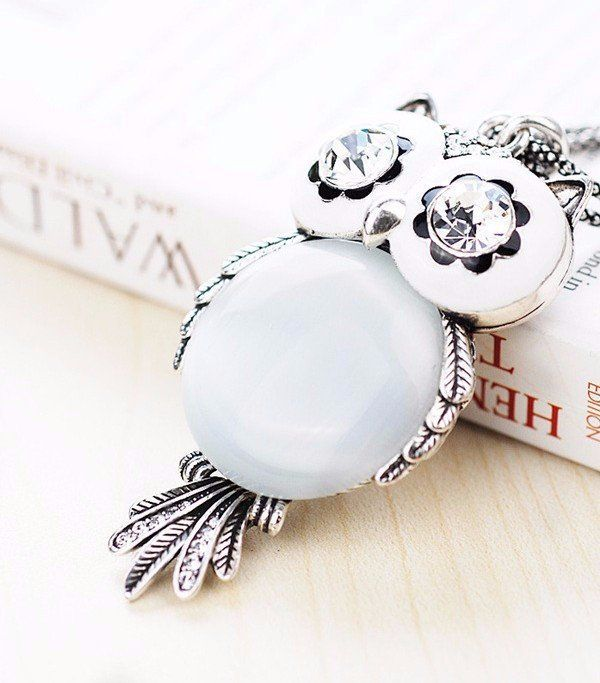 Crystal Owl Charm Pendant With Necklace - Big Star Trading Store