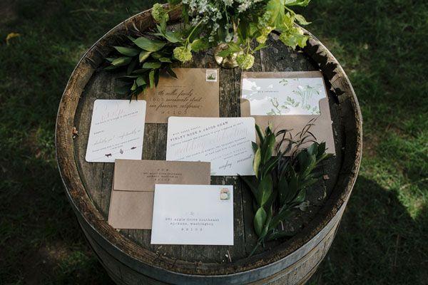 Elegant Winery Wedding Ideas by Belle Journee & Emily Wenzel - Apple Brides