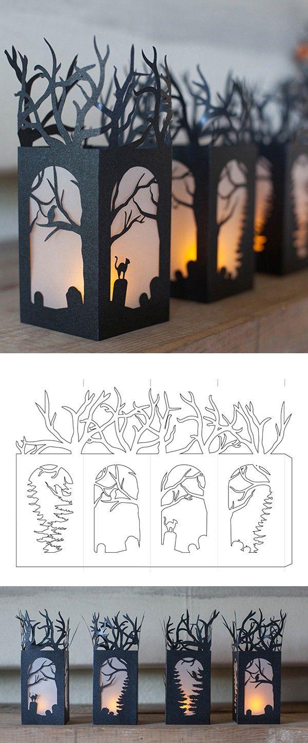 Làm đèn theo phong cách trổ giấy