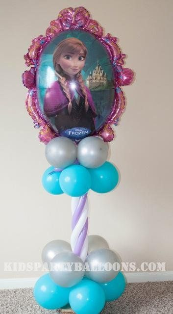 Frozen Balloon column - Anna