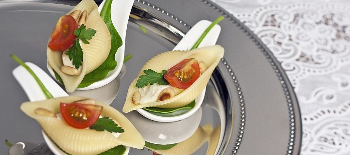 Amusehapje met mozzarella