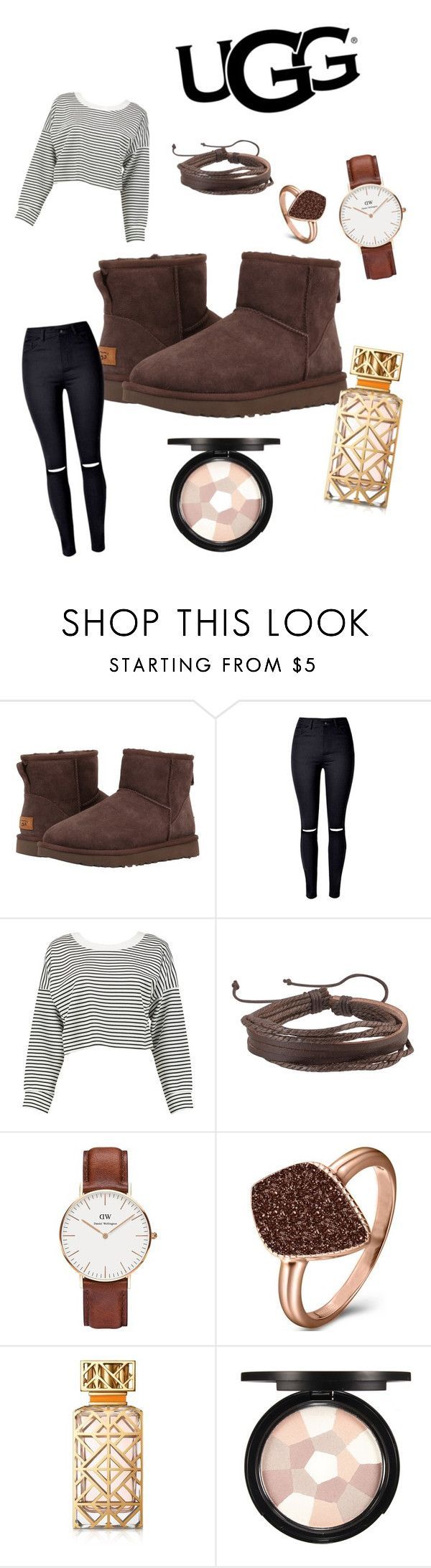 """Penelope - The Icon Perfected: UGG Classic II Contest Entry"" by kentigerna on Polyvore featuring moda, UGG Australia, Boohoo, Zodaca, Daniel Wellington, H.Azeem, Tory Burch, ugg e contestentry"