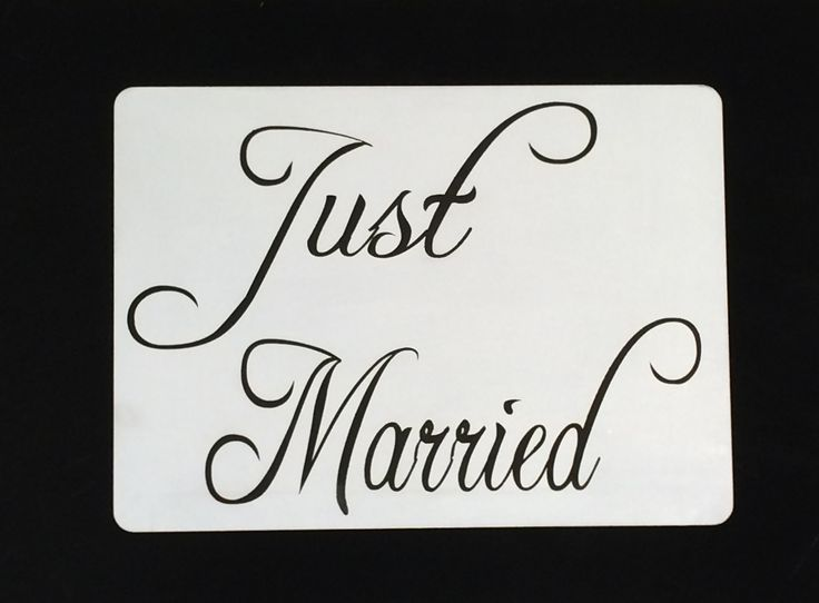 A4 size Just Married - for hire @ www.celebrationblackboards.com.au