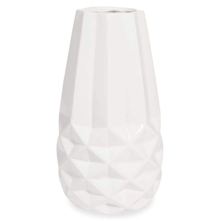 Witte keramische vaas BORAS, hoogte ...