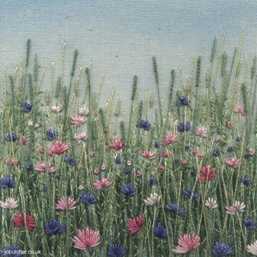 I hope you had a lovely weekend.  Today I'm delighted to feature an interview and beautiful work by embroidery artist, Jo Butcher. Jo recently won the 'Best Craftsperson' category in the Country Li...