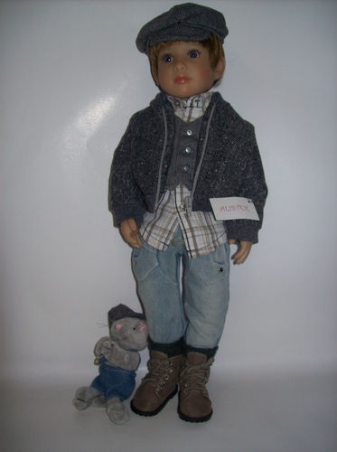 "Alister Kids 'N' Cats Dolls with Heart and Soul 18"" by Sonja Hartmann Germany fully jointed"