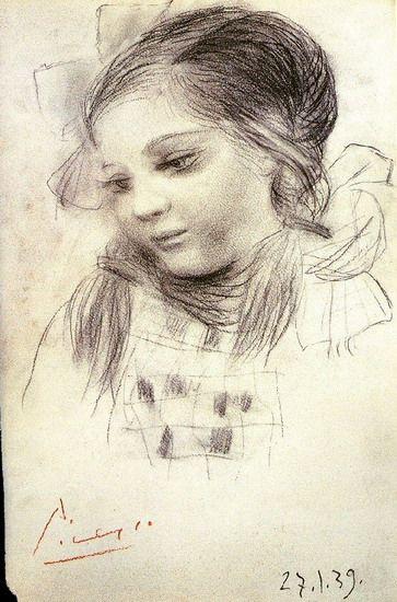 "Pablo Picasso - ""Portrait of Maya"". 1939 ~Via Cezar-Nelu Mitran"