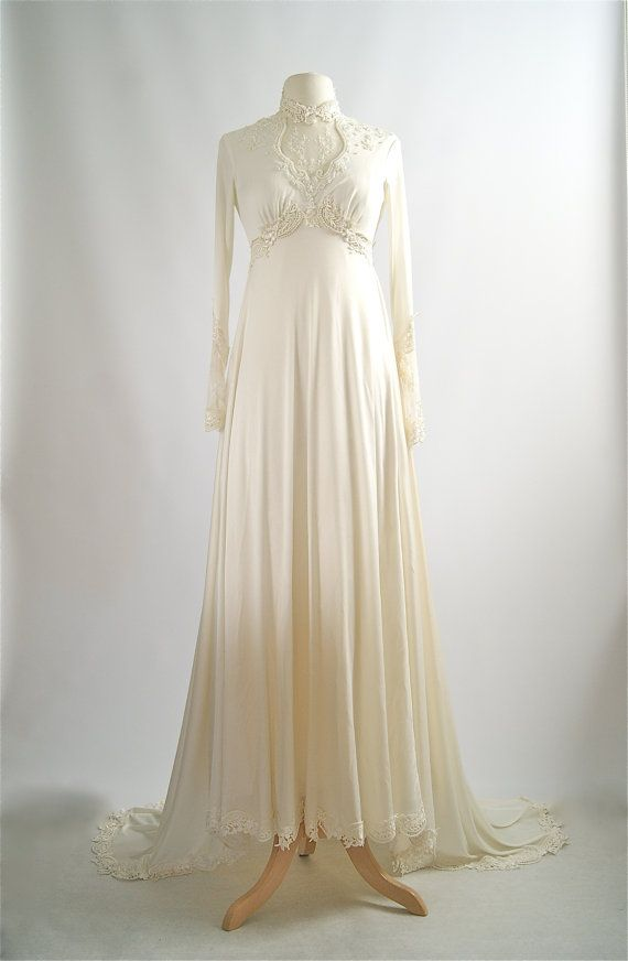 Vintage 1970s wedding dress victorian style by for 1970s vintage wedding dresses