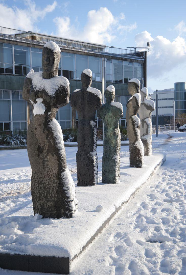 Ellison Quad in Winter | Northumbria University