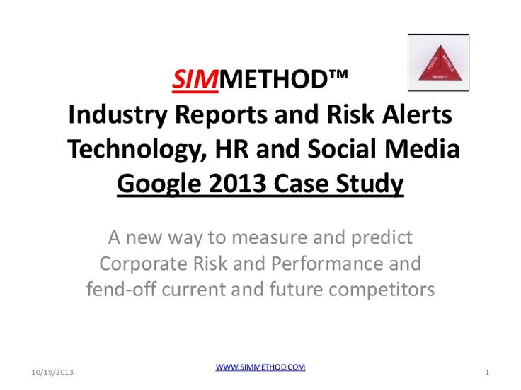 simmethod-google-case-study by SIMMETHOD via Slideshare Google's strength in the Management Controllable Resources Index shows effective resource management and a strong ability to convert resources into Best-In-Class performance