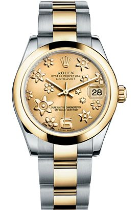 Buy Luxury Rolex Lady-Date Just Automatic Quartz#M178243-72163_CHAMP FLORAL ARB#Available in Steel & Gold for Women's at Ethos Watch Boutiques in India-http://tinyurl.com/q56z57p