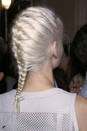 Best 25 how to braid your own hair short ideas on pinterest how heres how to french braid your own hair ccuart Choice Image