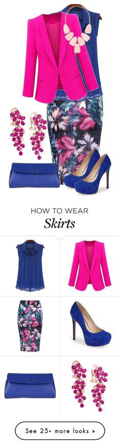 """Pencil Skirt"" by ifuseekjamie94 on Polyvore featuring Jessica Simpson, Fendi, Kendra Scott and Effy Jewelry"