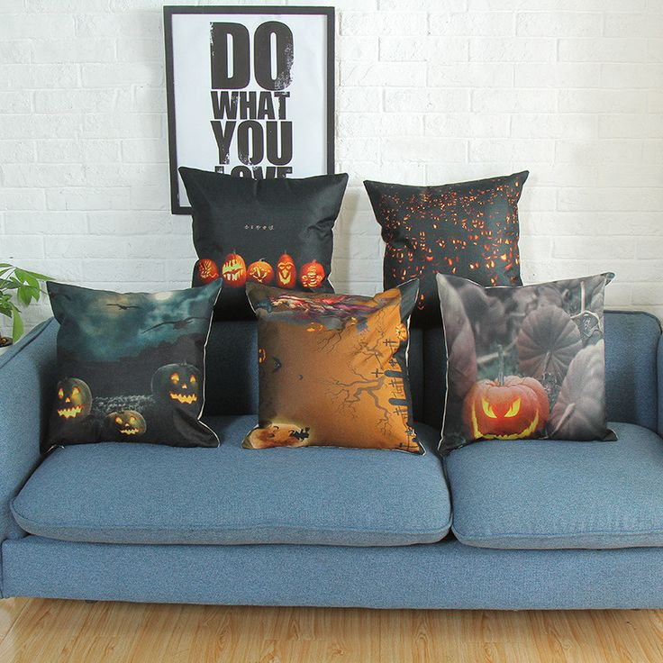 Find More Cushion Cover Information about Vintage Linen Cotton Retro Pumpkin Pillow Cover 45x45cm Lumbar Car Covers Halloween Witch Home Decor Cushion Cover Pillowcase,High Quality Cushion Cover from WK HomeTextiles Store on Aliexpress.com