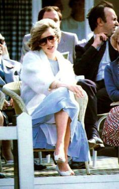 24 MAY 1984 PRINCESS DIANA DEBUTS HER NEW FORD ESCORT AT A POLO GAME WITH ESTEE LAUDER, SMITHS LAWN WINDSOR