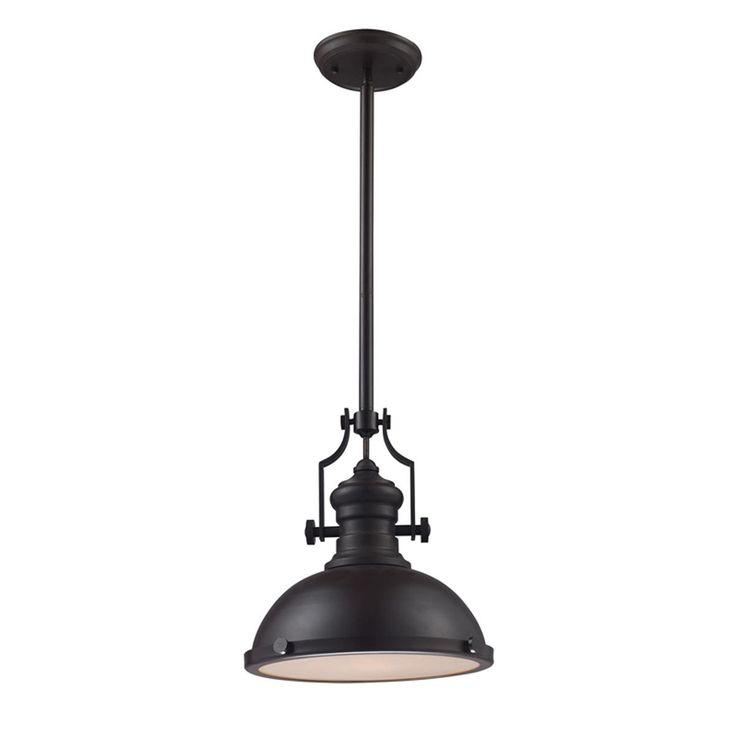 """Craftsman Period Pendant  Metal Shade $249  14"""" diameter"""