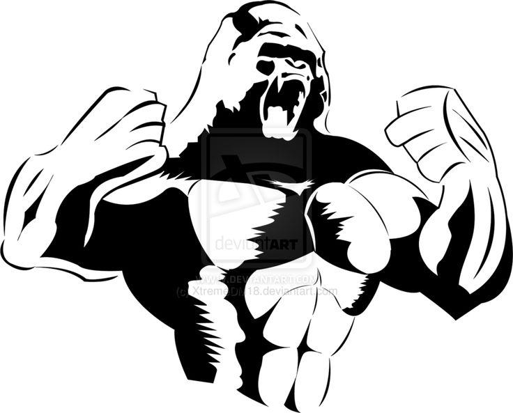 Gorilla Stencil by XtremeDM18.deviantart.com on @DeviantArt