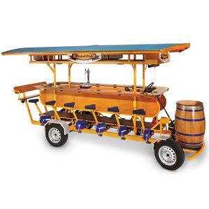 みんなでペダルを漕ぎながらお酒を飲むパブ「Pedal Pub」の価格は4万ドル