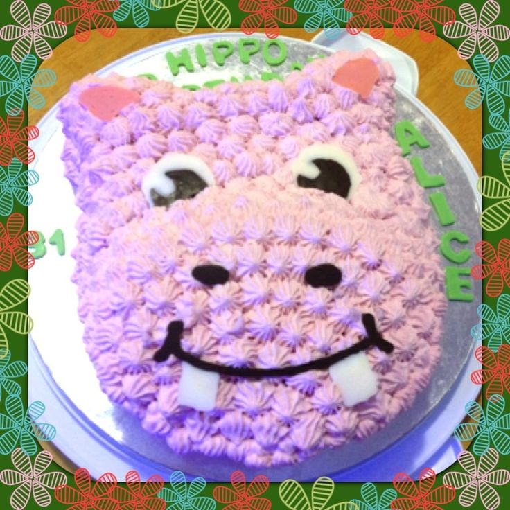Hippo Birthday Cake  on Cake Central