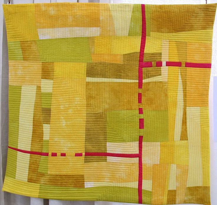 Yellow by Lynn Koolish, 2014 Voices in Cloth exhibit, photo by The Plaid Portico
