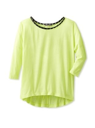 81% OFF Stella & Jamie Girl's Cosla Studded Collar Tee (Yellow)