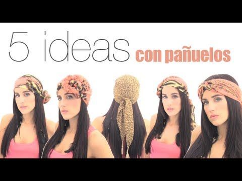 5 formas de usar el pañuelo en la cabeza. 5 ways to use scarf on the head.