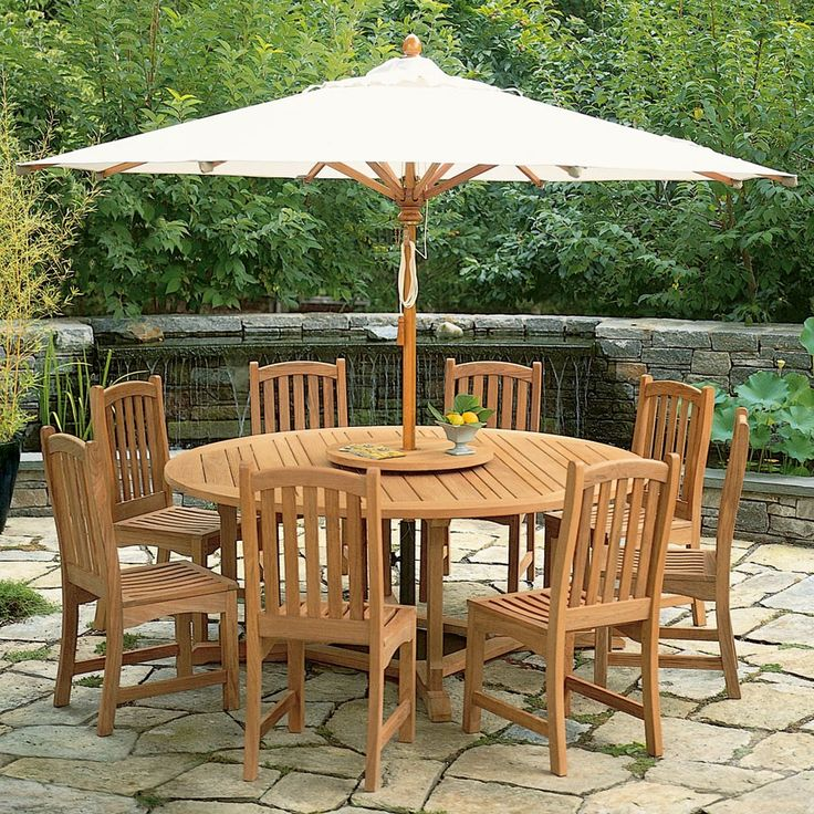 Lovely The 11 Ft. Octagon Eucalyptus Patio Umbrellas Are Create A Large Shaded  Area So That You Can Enjoy The Outdoors Even On The Hottest Days. Photo