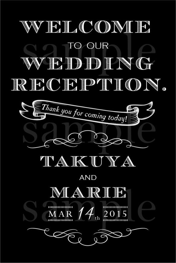 【セミオーダー】wedding ♡ welcome board《M》