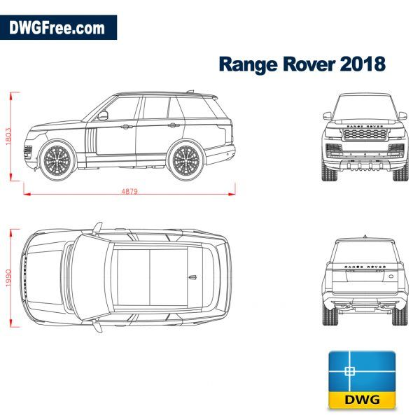 Range Rover 2018 Dwg Download Autocad Blocks Model Range Rover 2018 Range Rover Suv Range Rover