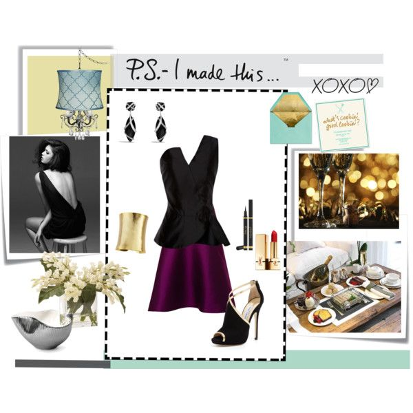 """""""flirty dinner party (contest)"""" by deluniq on Polyvore"""